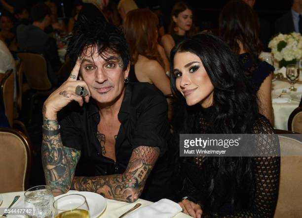Tommy Lee and BrittanyFurlan attend the 2017 Streamy Awards at The Beverly Hilton Hotel on September 26 2017 in Beverly Hills California