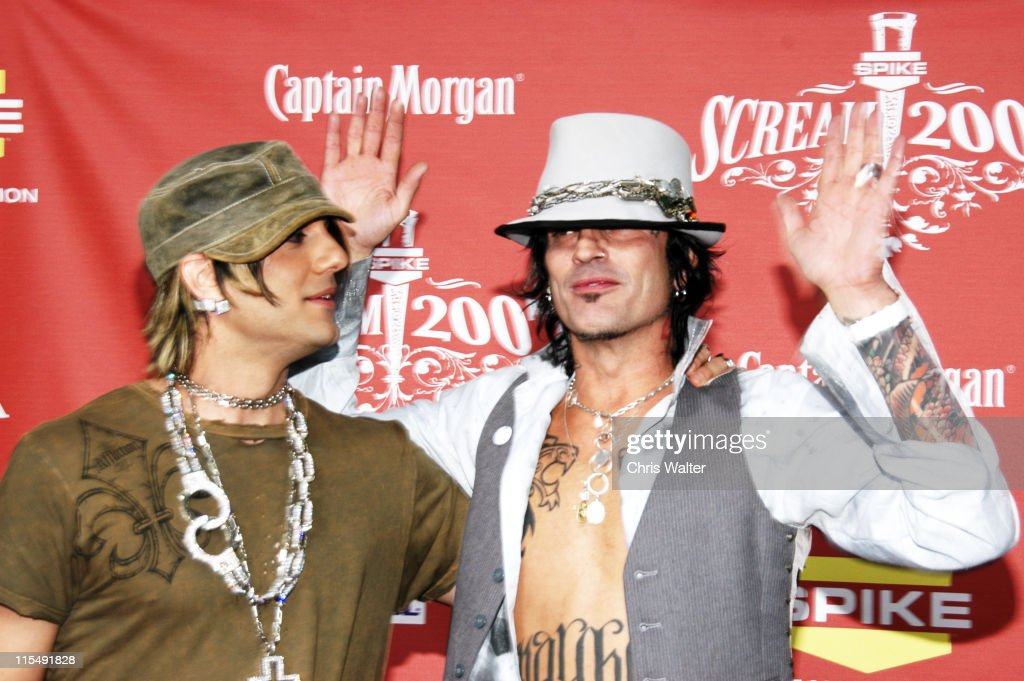 Tommy Lee and Cris Angel in the Press Room at Spike TV's 'Scream 2007' held at The Greek Theatre on October 19 2007 in Los Angeles California