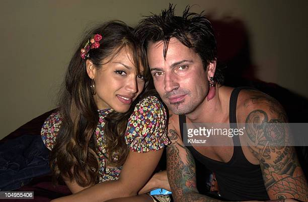 Tommy Lee and new girlfriend Mayte backstage during MTV20 Live and Almost Legal Backstage MTV celebrated with a threehour live party with special...