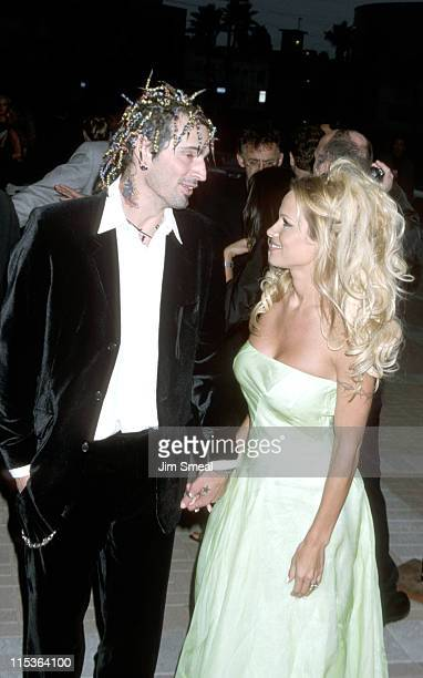 Tommy Lee and Pamela Anderson during PETA Honors The Animal Rights Movement at Paramount Studios in Hollywood California United States