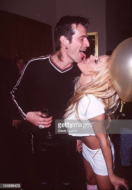 Tommy Lee and Pamela Anderson during Rolling Stones Concert Arrivals at Hard Rock Hotel Casino in Las Vegas Nevada United States