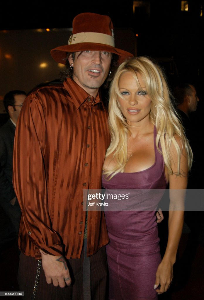 Tommy Lee and Pamela Anderson during Scary Movie 3 Los Angeles Premiere at AMC Theatres Avco Cinema in Westwood, California, United States.