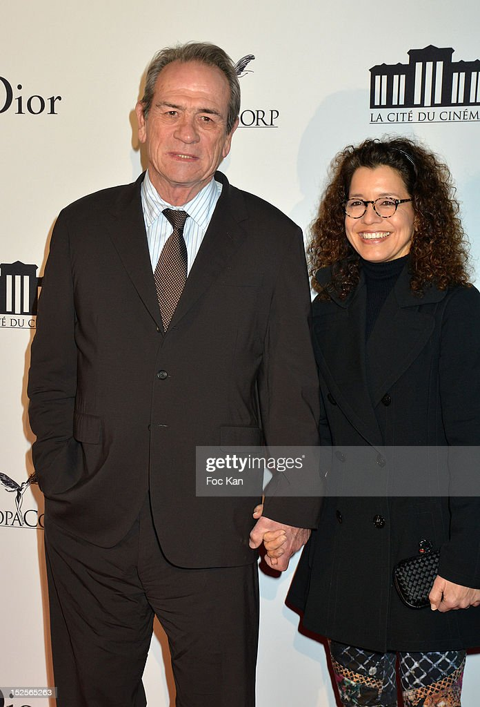 Tommy Lee Jones and Dawn Jones attend 'La Cite Du Cinema' Launch - Red Carpet at Saint Denis on September 21, 2012 in Paris, France.