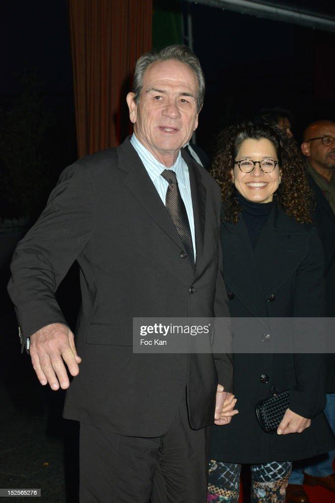 Tommy Lee Jones and Dawn Jones attend 'La Cite Du Cinema' Launch - Red Carpet at Saint Denis on September 21, 2012 in Paris, France.