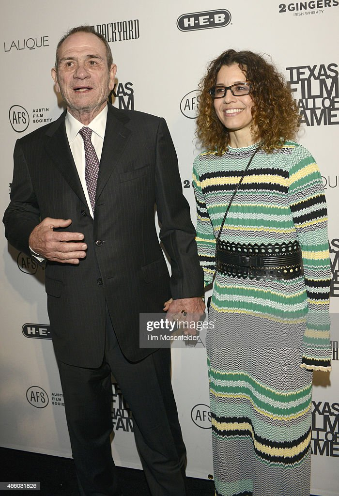 Tommy Lee Jones and Dawn Jones attend the Texas Film Awards at Austin Studios on March 12 2015 in Austin Texas