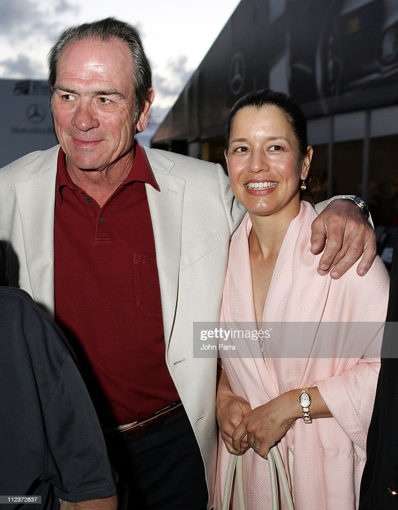Tommy Lee Jones and Dawn Jones during MercedesBenz ACE for a Cure Fashion Extravaganza at the NASDAQ 100 Open at Crandon Park Tennis Cente in Key...