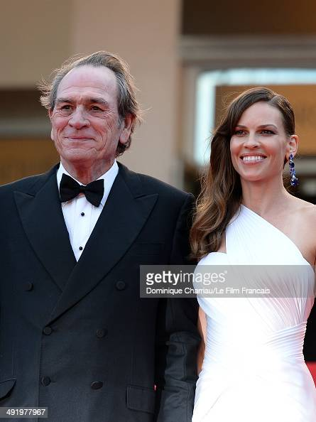 Tommy Lee Jones and Hilary Swank attend 'The Homesman' Premiere at the 67th Annual Cannes Film Festival on May 18 2014 in Cannes France