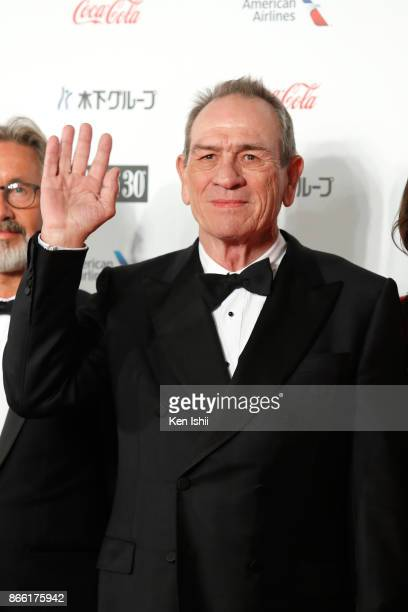 Tommy Lee Jones attends the red carpet of the 30th Tokyo International Film Festival at Roppongi Hills on October 25 2017 in Tokyo Japan