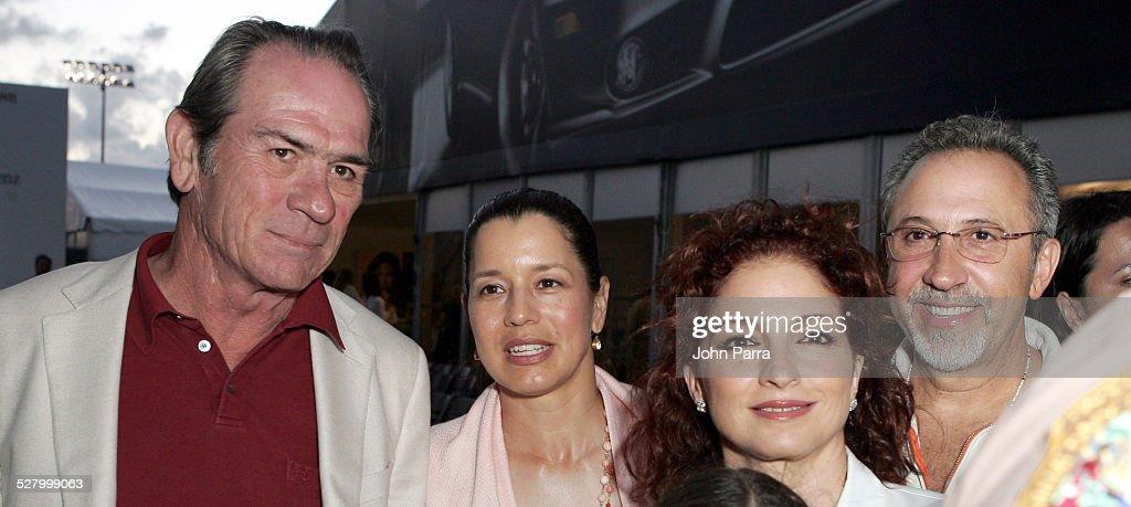 Tommy Lee Jones Dawn Jones Gloria Estefan and Emilio Estefan
