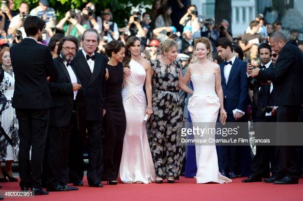 Tommy Lee Jones Dawn Jones Hilary Swank Sonja Richter Miranda Otto attends 'The Homesman' Premiere at the 67th Annual Cannes Film Festival on May 18...