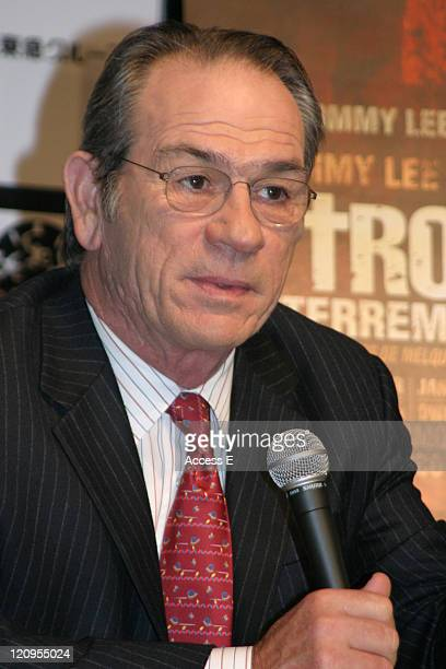 Tommy Lee Jones during 18th Tokyo International Film Festival 'The Three Burials of Melquiades Estrada' Press Conference in Tokyo Japan