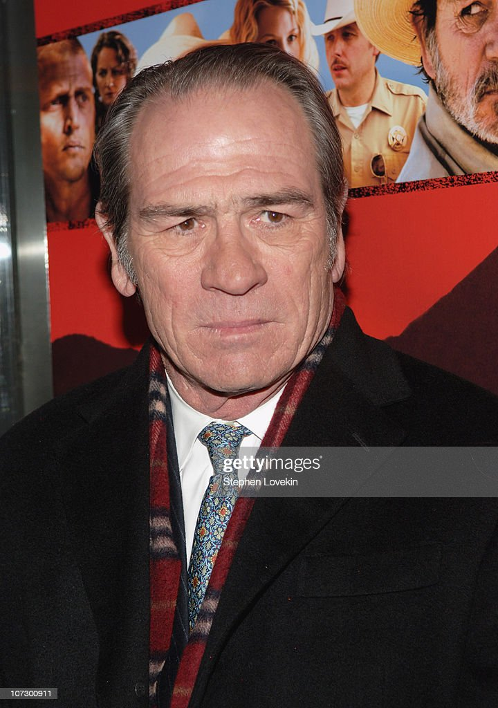 Tommy Lee Jones during 'The Three Burials of Melquiades Estrada' New York City Premiere - Inside Arrivals at The Paris Theatre in New York City, New York, United States.
