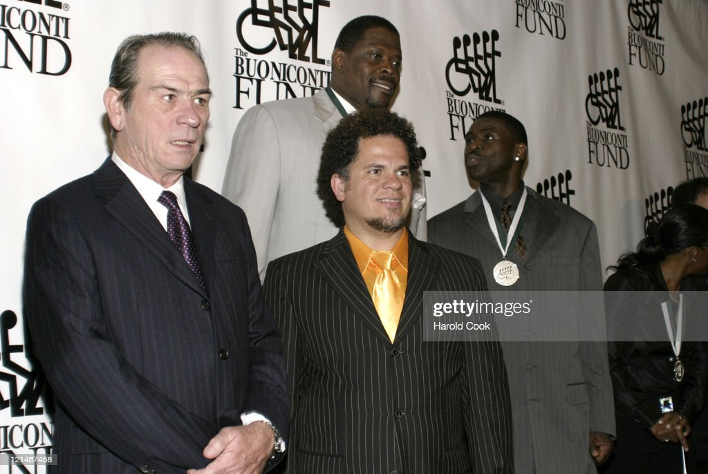 Tommy Lee Jones Patrick Ewing and guests during 21st Annual Great Sports Legends Dinner at The Waldorf Astoria in New York City New York United States