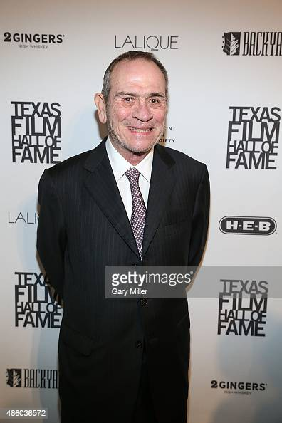 Tommy Lee Jones poses on the red carpet during the Austin Film Society's 15th Annual Texas Film Awards at Austin Studios on March 12 2015 in Austin...