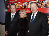 Tommy Lee Jones Tipper Gore and Al Gore during 'The Three Burials of Melquiades Estrada' New York City Premiere Inside Arrivals at The Paris Theatre...