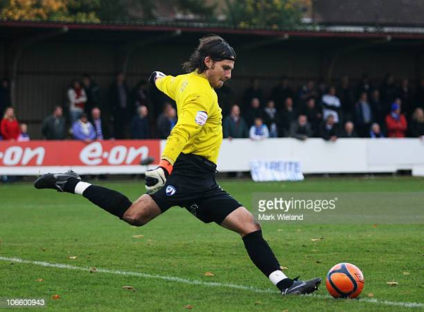 Tommy Lee of Chesterfield in action during the FA Cup 1st Round match sponsored by eon on November 6 2010 in Harrow England