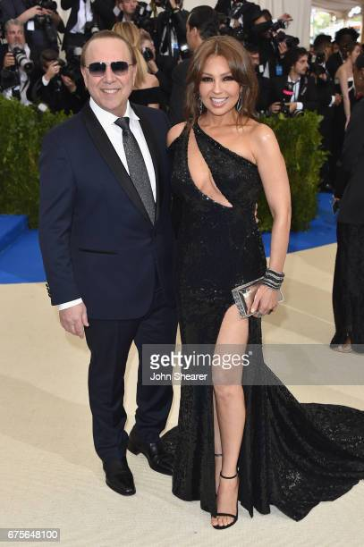 Tommy Mottola and Thalia attend the 'Rei Kawakubo/Comme des Garcons Art Of The InBetween' Costume Institute Gala at Metropolitan Museum of Art on May...