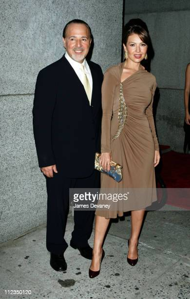 Tommy Mottola and Thalia during The Cipriani Wall Street Concert Series Presents Marc Anthony Hosted By De Grisogono at The Cipriani Wall Street in...