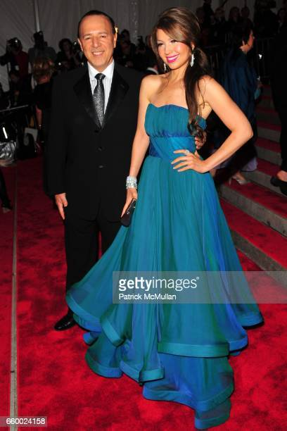 Tommy Mottola and Thalia Mottola attend THE COSTUME INSTITUTE GALA 'The Model As Muse' with Honorary Chair MARC JACOBS ARRIVALS at The Metropolitan...