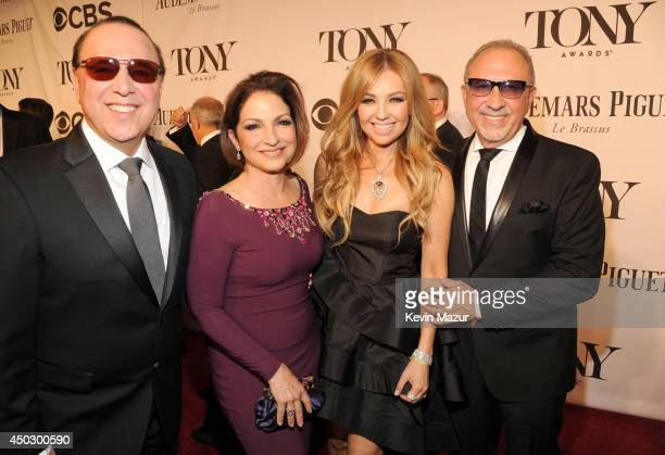 Tommy Mottola Gloria Estefan Thalia and Emilio Estefan attend the 68th Annual Tony Awards at Radio City Music Hall on June 8 2014 in New York City