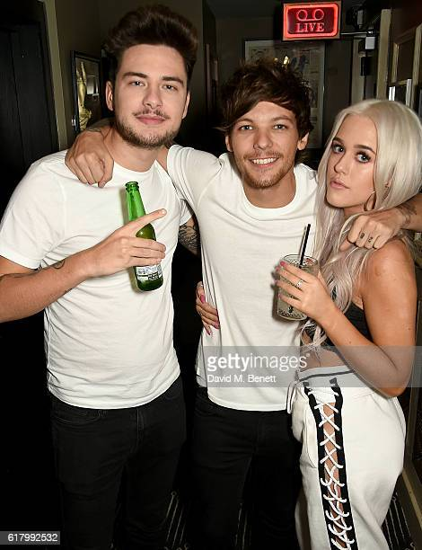 Tommy Napolitano Lottie and Louis Tomlinson attend a party to launch her collection Nails Inc X Lips Inc Matchbox collection at Tape London on...