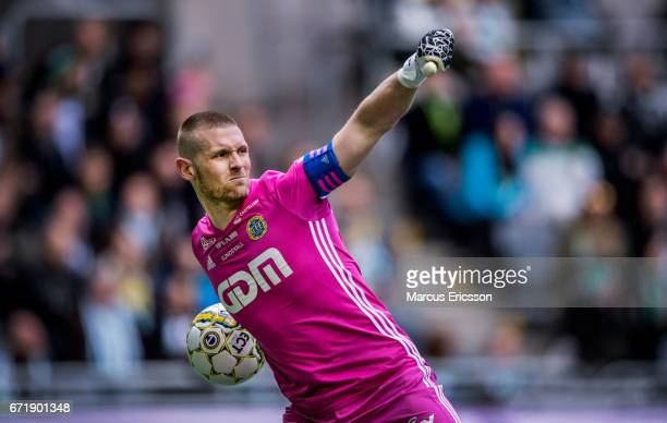 Tommy Naurin goalkeeper of GIF Sundsvall during the Allsvenskan match between Hammarby IF and GIF Sundsvall at Tele2 Arena on April 23 2017 in...