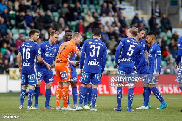 Tommy Naurin goalkeeper of GIF Sundsvall during the Allsvenskan match between GIF Sundsvall and Djurgardens IF at Norrporten Arena on October 1 2017...