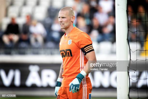 Tommy Naurin goalkeeper of GIF Sundsvall looks on during the Allsvenskan match between BK Hacken and GIF Sundsvall at Bravida Arena on August 14 2017...