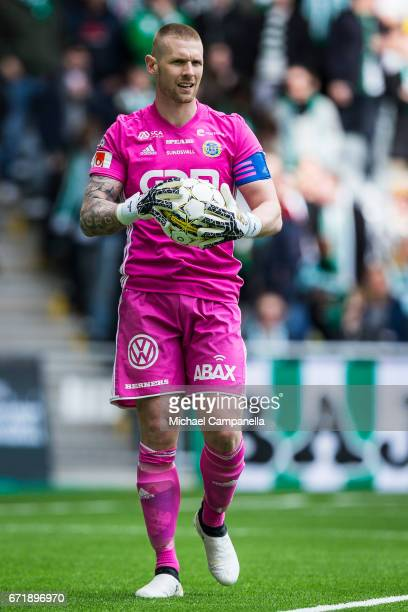Tommy Naurin of GIF Sundsvall during an Allsvenskan match between Hammarby IF and GIF Sundsvall at Tele2 Arena on April 23 2017 in Stockholm Sweden