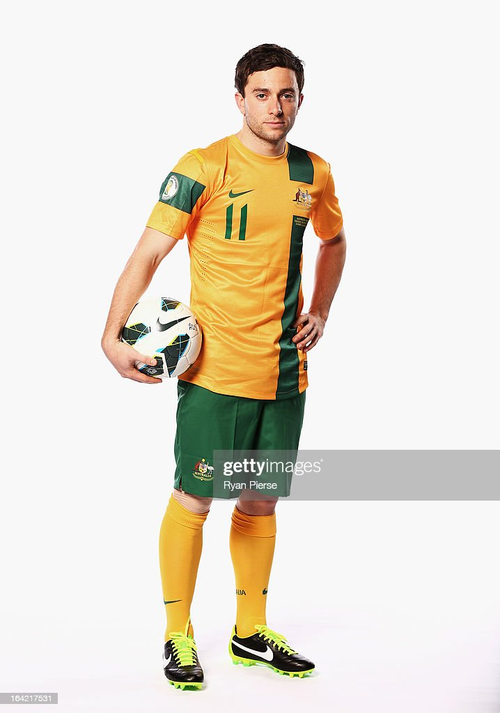 Tommy Oar of Australia poses during a Socceroos Portrait Session on March 21, 2013 in Sydney, Australia.