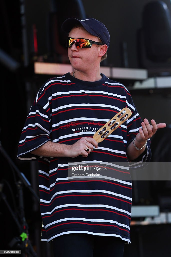Tommy O'Dell of DMA's performs at St Jerome's Laneway Festival on February 13, 2016 in Melbourne, Australia.