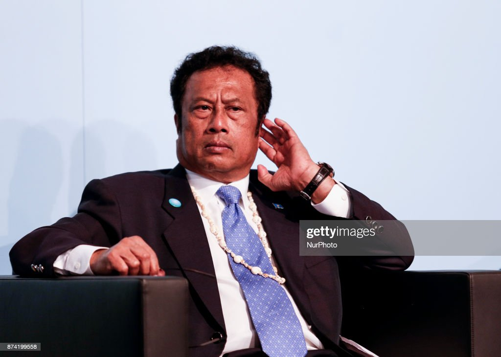 Tommy Remengesau, President of Palau at the Marrakesh Partnership panel at the COP23 Fiji conference in Bonn, Germany on the 14th of November 2017. COP23 is organized by UN Framework Convention for Climate Change.