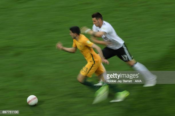 Tommy Rogic of Australia and Niklas Suele of Germany during the FIFA Confederations Cup Russia 2017 Group B match between Australia and Germany at...