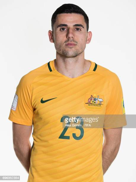Tommy Rogic poses for a picture during the Australia team portrait session on June 15 2017 in Sochi Russia