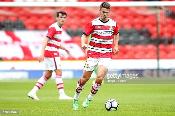 Tommy Rowe of Doncaster Rovers during the preseason friendly match between Doncaster Rovers and Middlesbrough at Keepmoat Stadium on July 16 2016 in...