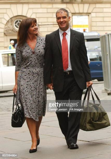 Tommy Sheridan arrives with wife Gail at the Court of Session in Edinburgh where his defamation action against the News of the World newspaper...