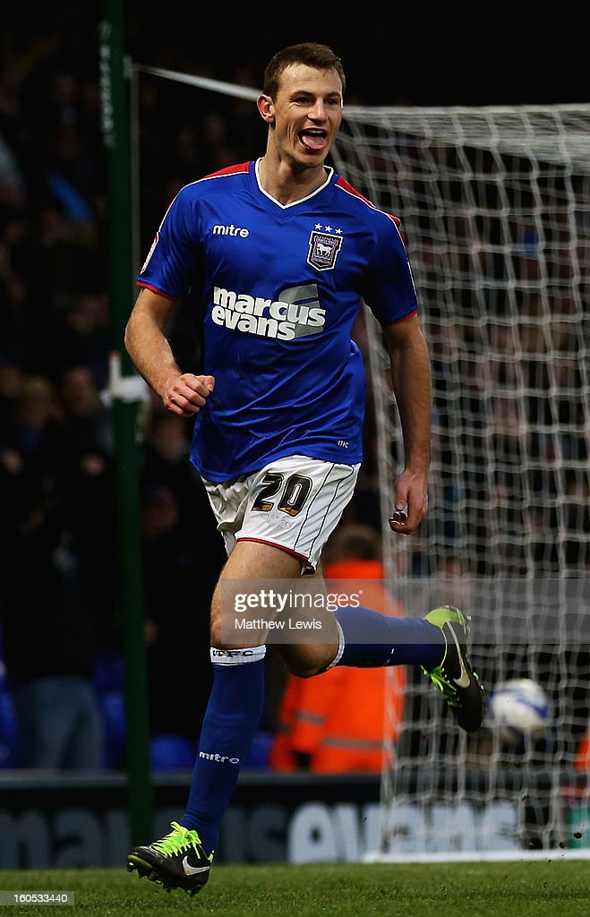 Tommy Smith of Ipswich celebrates his second goal during the npower Championship match between Ipswich Town and Middlesbrough at Portman Road on February 2, 2013 in Ipswich, England.
