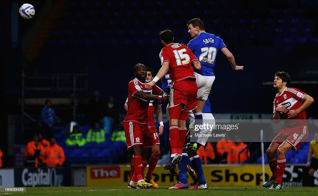 Tommy Smith of Ipswich scores his second goal during the npower Championship match between Ipswich Town and Middlesbrough at Portman Road on February 2, 2013 in Ipswich, England.