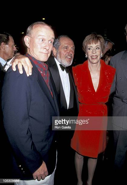 Tommy Smothers Alan King and Carol Burnett during Toyota Comedy Festival Party at Harley Davidson Cafe in New York City New York United States