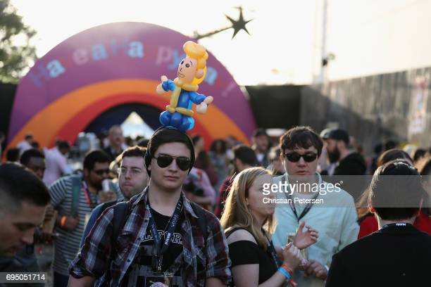 Tommy Solazzo of Phoenix AZ attends the Bethesda E3 conference at the LA Center Studios on June 11 2017 in Los Angeles California The E3 Game...
