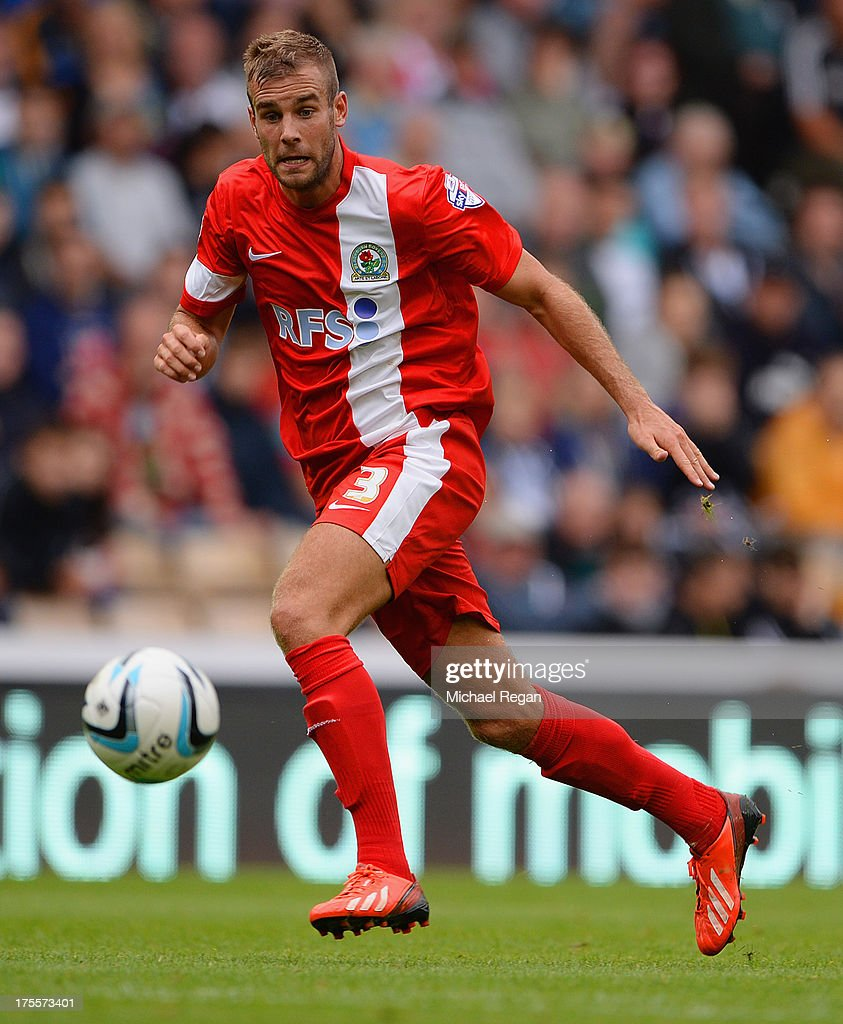 Tommy Spurr of Blackburn looks on during the Sky Bet Championship match between Derby County and Blackburn Rovers at Pride Park Stadium on August 04, 2013 in Derby, England,