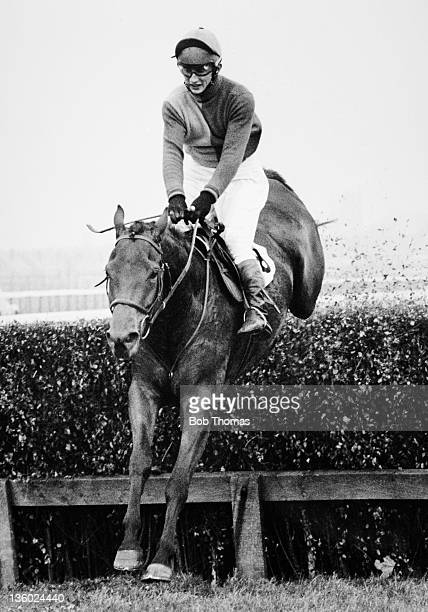 Tommy Stack riding Red Rum during a National Hunt race meeting at Doncaster on 6th November 1970