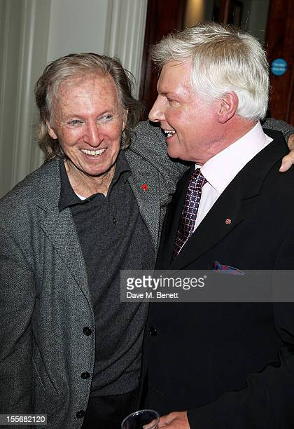 Tommy Steele and Jess Conrad attend the press night performance of 'Scrooge The Musical' at the London Palladium on November 6 2012 in London England