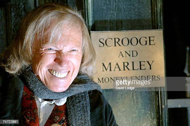 Tommy Steele as Scrooge at the Tommy Steele Appears in 'Scrooge' Photocall at The Palladium in London