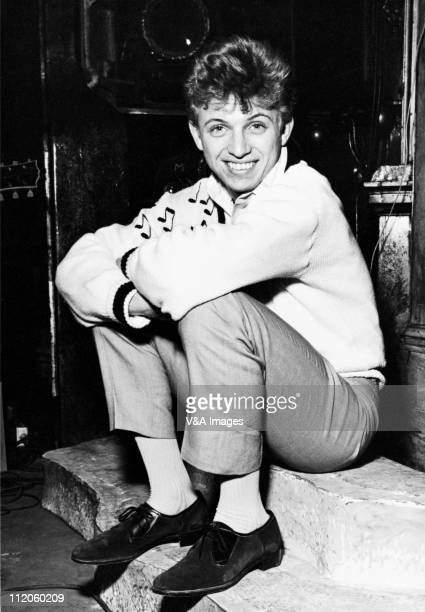 Tommy Steele posed backstage 1959