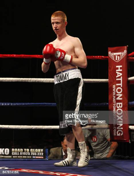 Tommy Stubbs ahead of his Bantamweight fight against Gavin Reid at the Sports Centre Oldham