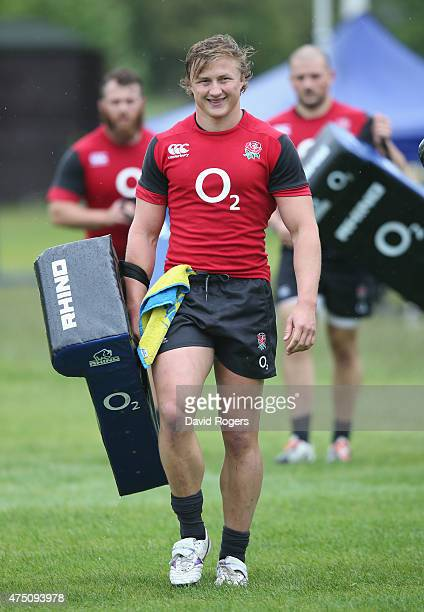 Tommy Taylor looks on during the England training session held at the Lensbury Club on May 29 2015 in Teddington England