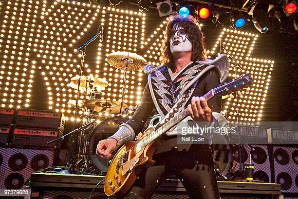 Tommy Thayer of Kiss performs on stage at O2 Islington Academy on March 2 2010 in London England