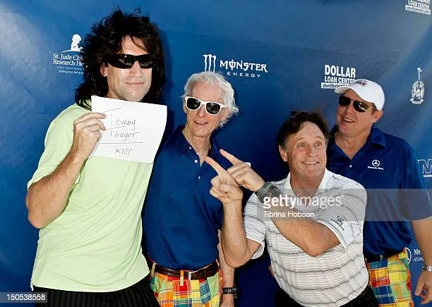 Tommy Thayer Robby Krieger and Robert Hays attend the Robby Krieger and Scott Medlock Celebrity Golf Classic benefiting St Jude's Children's Research...