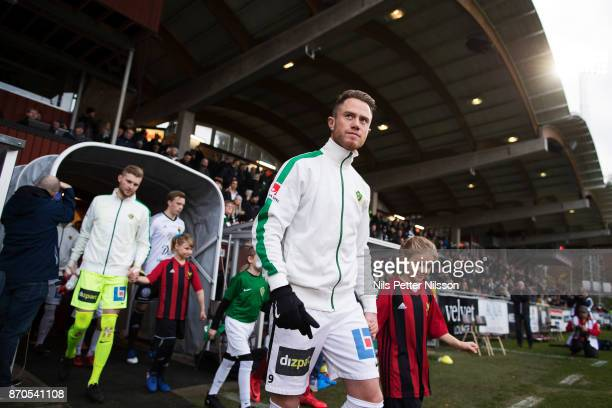 Tommy Thelin of Jonkopings Sodra walks on the pitch ahead of the Allsvenskan match between Jonkopings Sodra IF and Ostersunds FK at Stadsparksvallen...